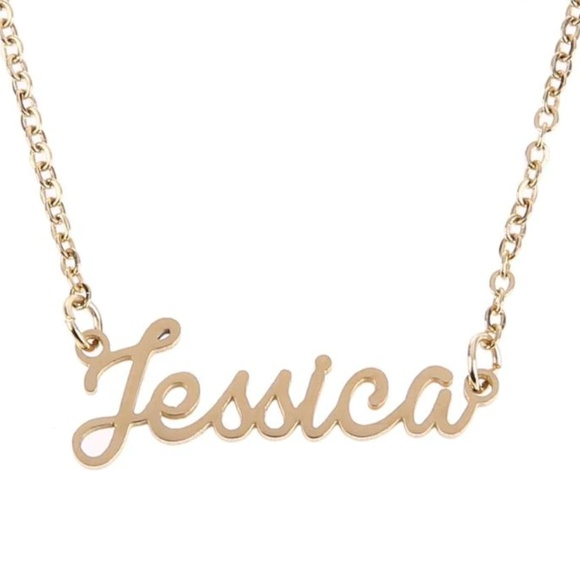 1e807de309c21 14K Jessica Name Nameplate Necklace 3/$30 Boutique